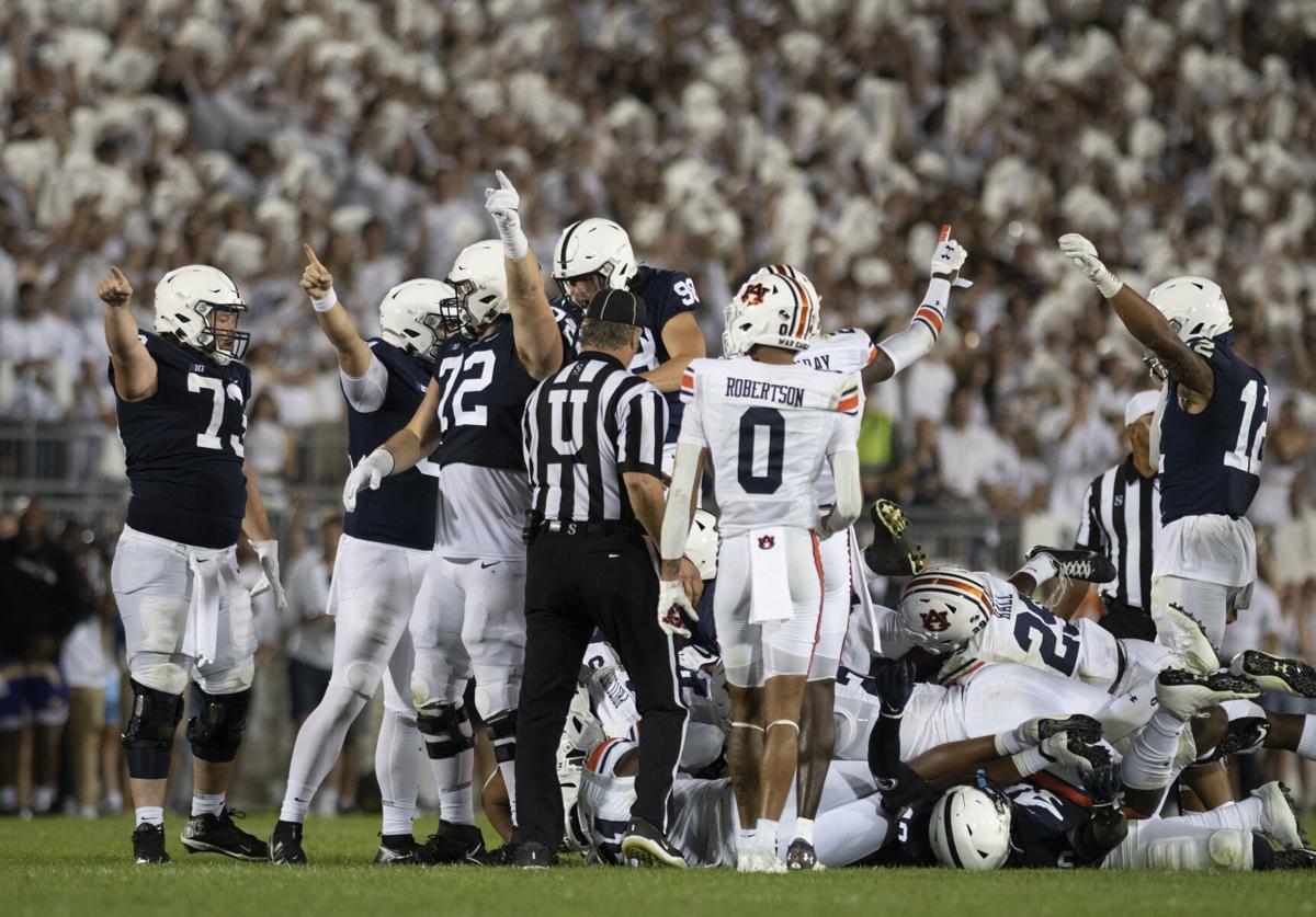 Penn State football vs. Auburn, defense celebration