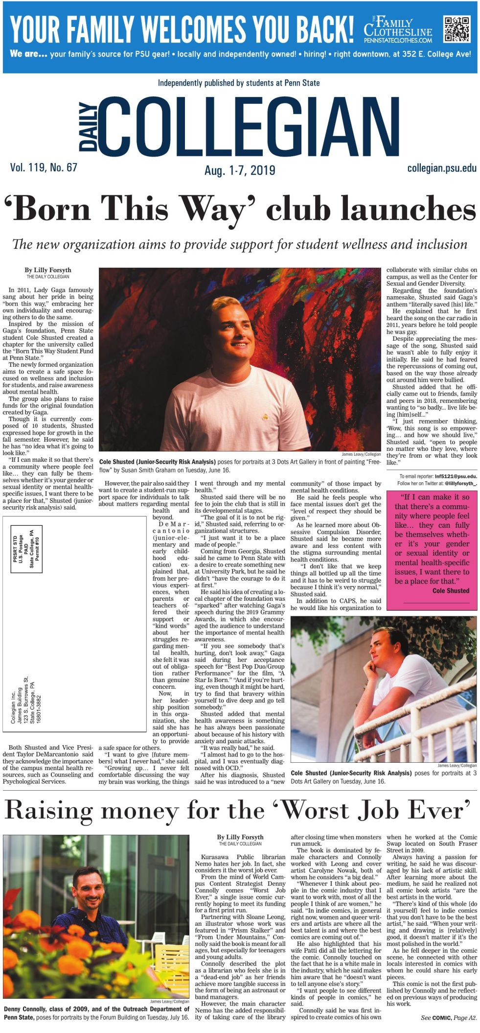 The Daily Collegian for Aug. 1, 2019