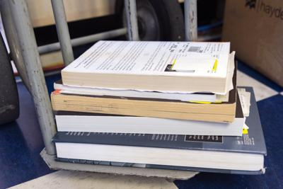 Stacked Return Books