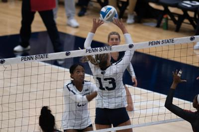Womens Volleyball v Ohio State - Gabby Blossom, Kaitlyn Hord