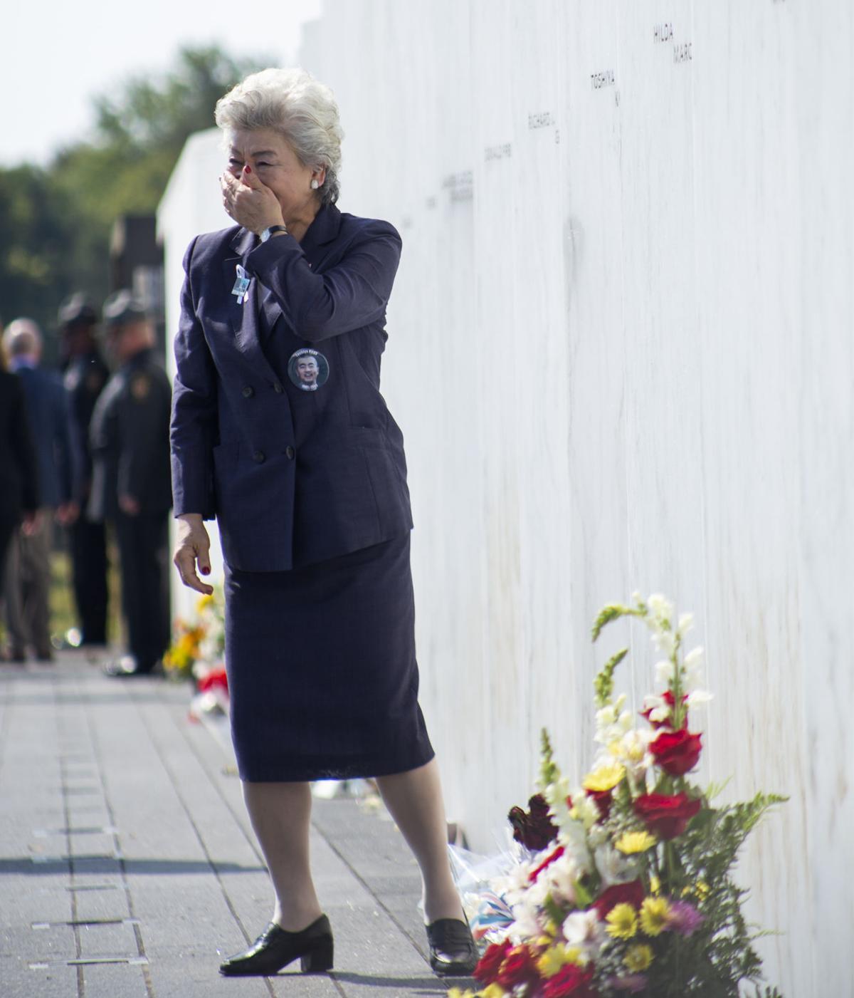 Flight 93 Memorial, Family Member Covering Mouth