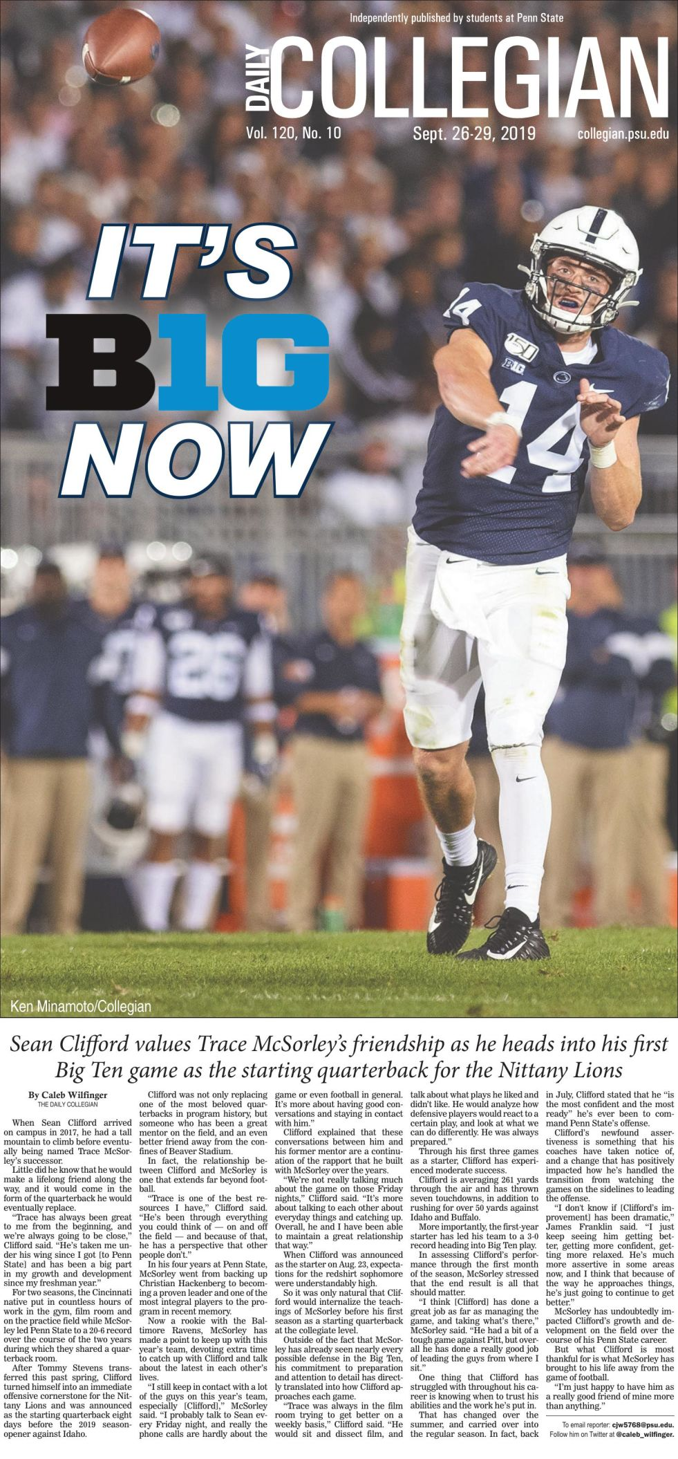 The Daily Collegian for Sept. 26, 2019