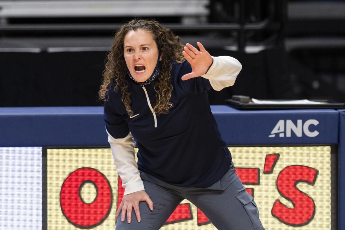 Coach Carolyn Kieger Shouts for Defense