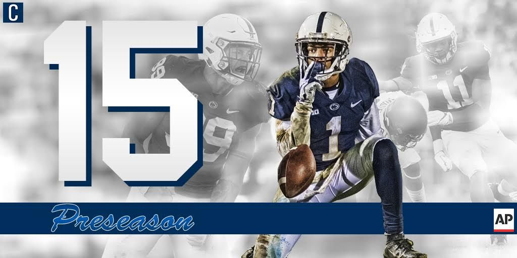 Penn State football ranked No. 15 in preseason AP poll