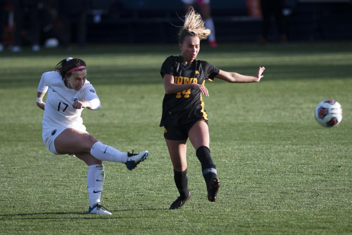 Penn State Women's Soccer vs Iowa, B1G Semi-Finals, Coffey (17)