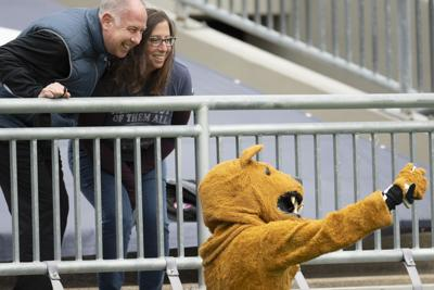 Penn State football spring practice, Nittany Lion and fans