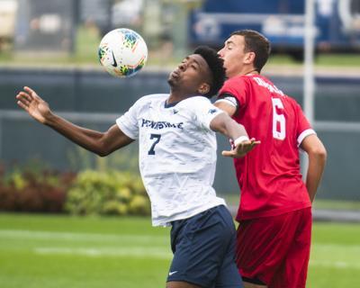 Men's Soccer v. Indiana, Butts (7), Gets Shoved