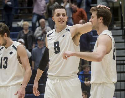 Men's Volleyball vs. Ohio State, Donorovich (8) and Bogner (6)