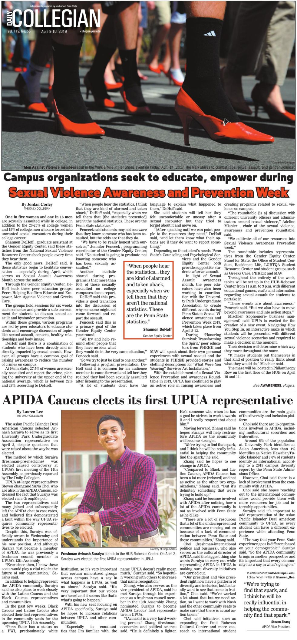 The Daily Collegian for April 8, 2019
