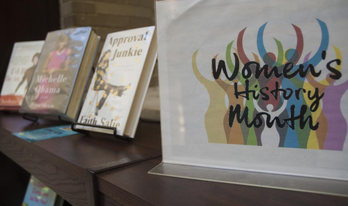 Women's History Month Pattee Display