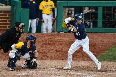 Baseball PSU vs. Michigan Josh Spiegel (41)