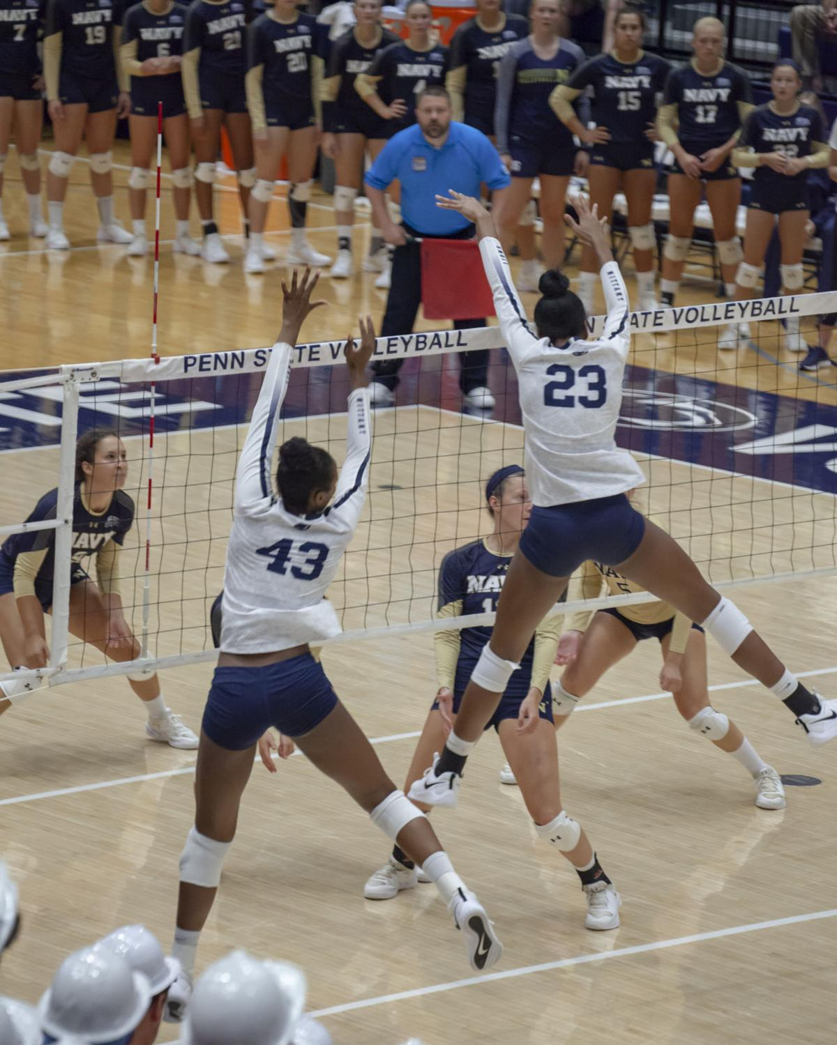 behind strong play, penn state women's volleyball's freshman middle