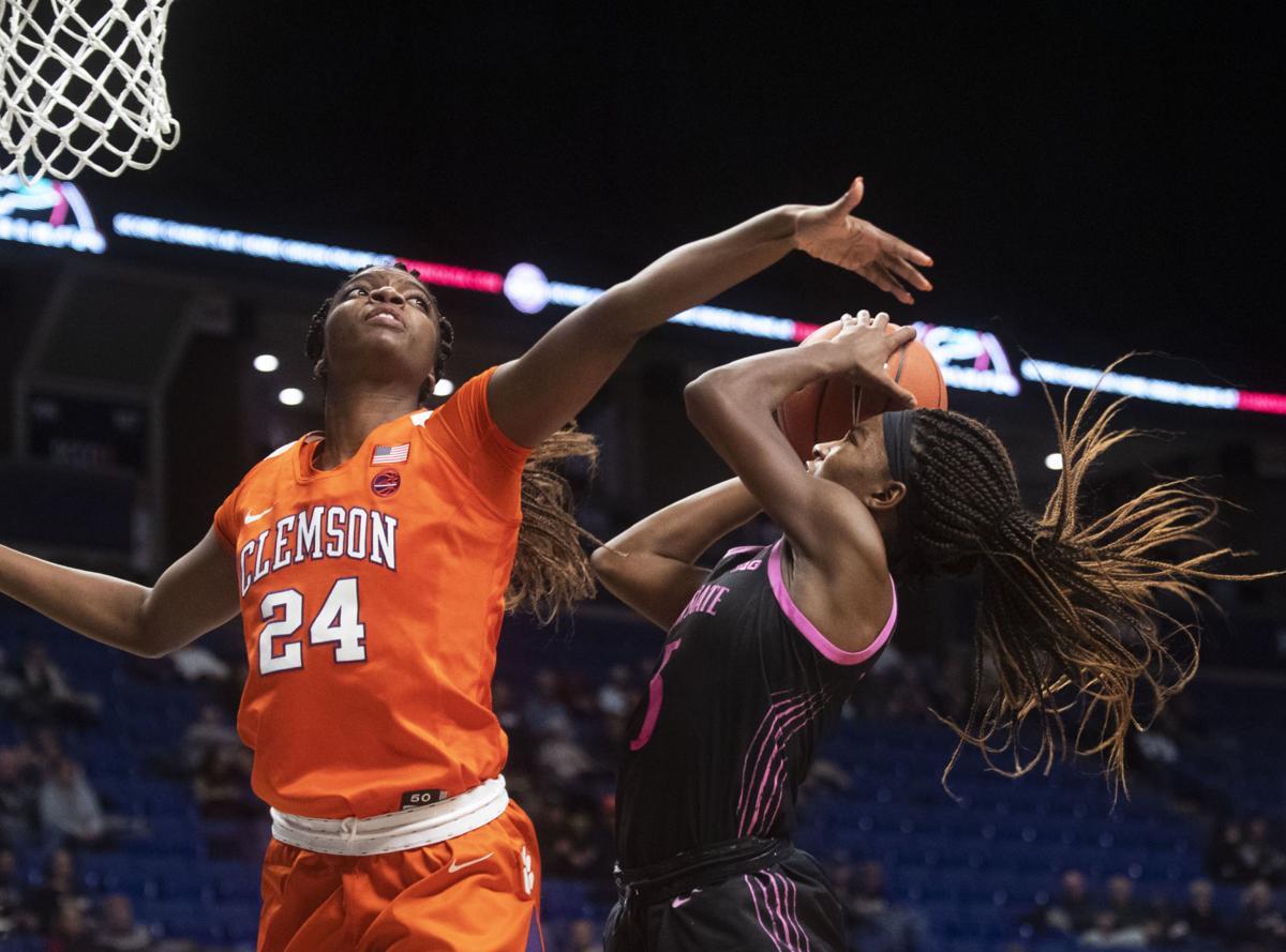 Women's Basketball vs. Clemson, Kamaria McDaniel (5)