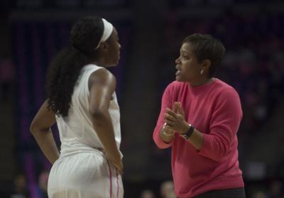 Women's Basketball vs Ohio State Coquese Washington and Siyeh Frazier (4)