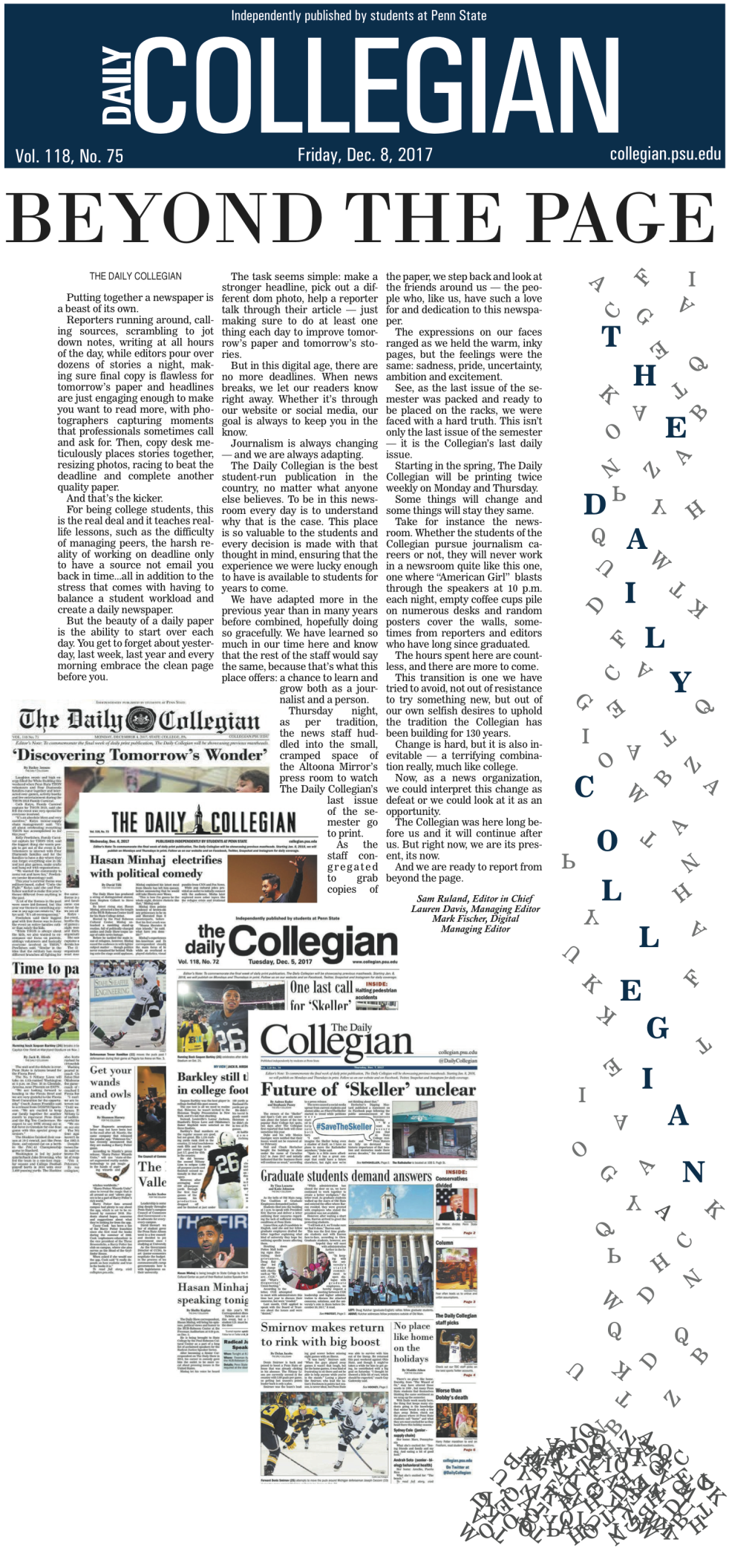 Collegian front page