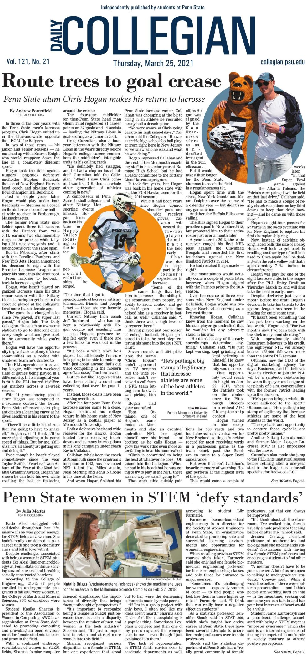 The Daily Collegian for March 25, 2021