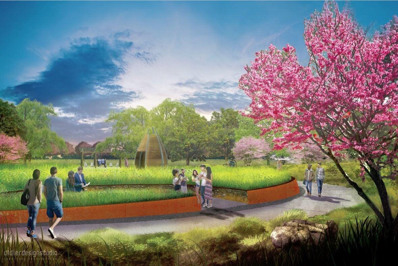 Arboretum pollinator garden 2