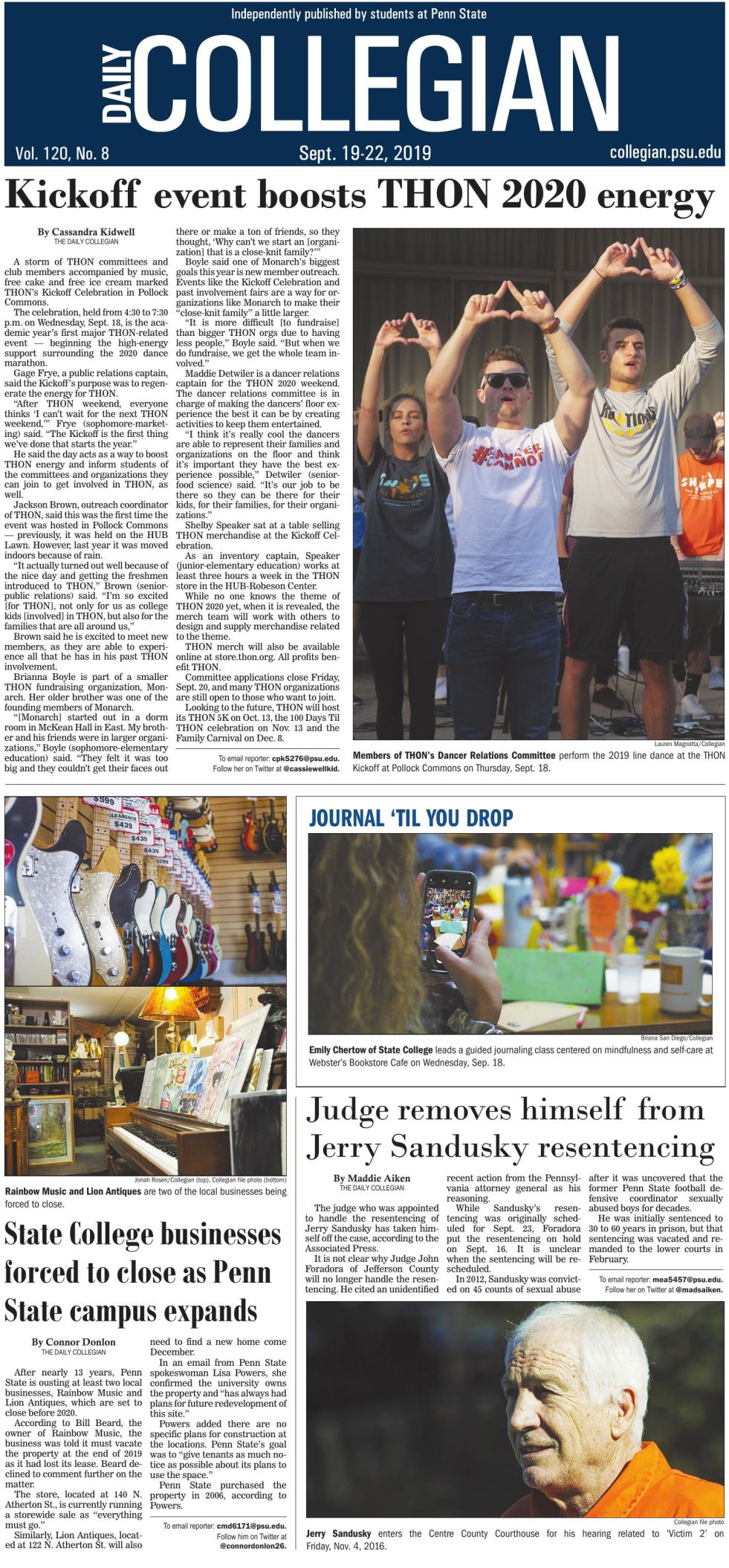 The Daily Collegian for Sept. 19, 2019