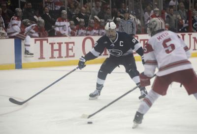 Big Ten Men's Ice Hockey Tournament Semifinals vs. Ohio State, Berger (8)