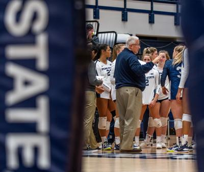 Penn State women's volleyball NCAA first round vs Princeton, Russ Rose