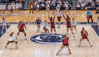 Penn State women's volleyball vs Stanford, Kaitlyn Hord (23) spike