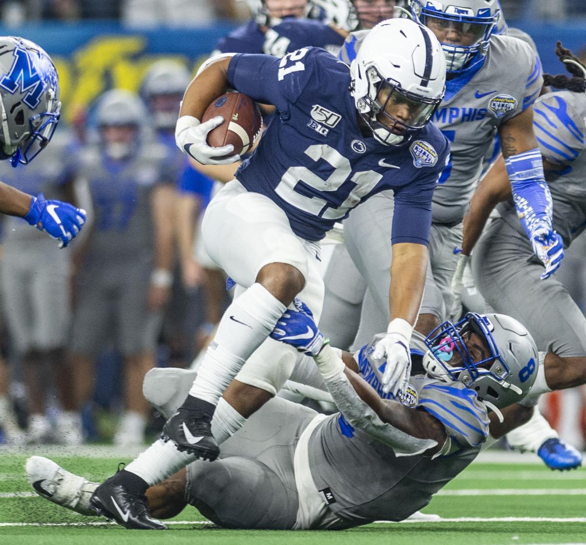 Cotton Bowl Classic, Penn State vs Memphis, Running back Noah Cain (21)