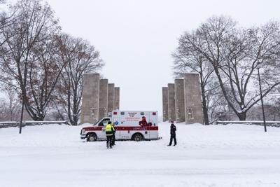 VT Campus Snow