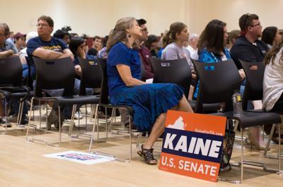 Kaine-Stewart Senate Forum - Kaine supporter
