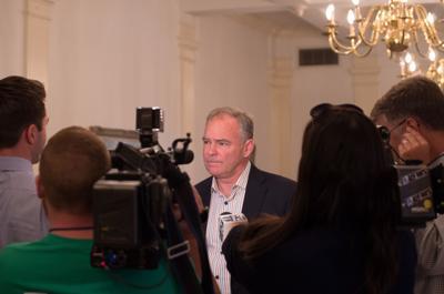 Kaine-Stewart Senate Forum - Kaine media