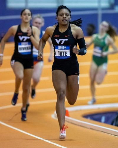 2021 ACC indoor track and field day 2, Caitlan Tate