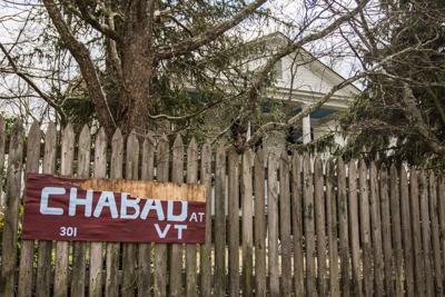 Chabad house at VT - swastikas