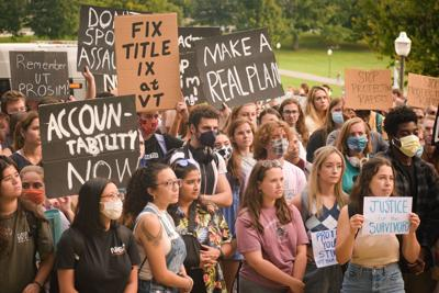 Students protest sexual assault at Virginia Tech