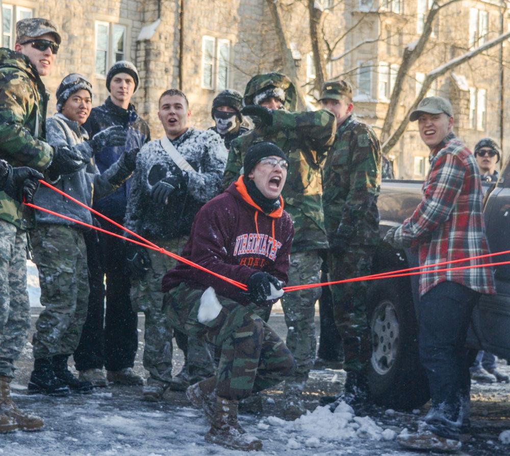 Cadets vs. Civilians snowball fight