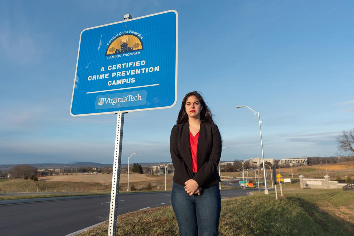 Sexual Assault Piece: Crime Prevention Campus Sign with Maya