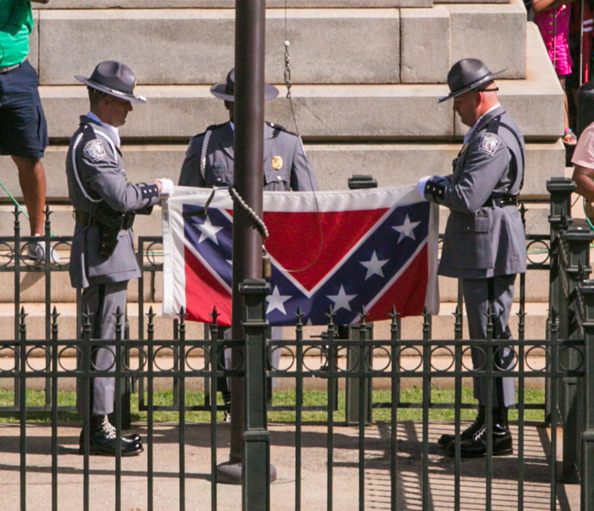 A dark piece of history confederate battle flag symbolizes racism confederate flag at south carolina state house biocorpaavc