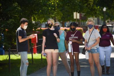 Masks around campus