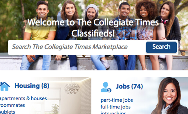 Classifieds   collegiatetimes com