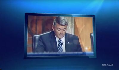 Gardner TV ad committee footage