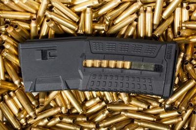 Ammunition and magazine  Ammo, weapon concept. guns high capacity bullets