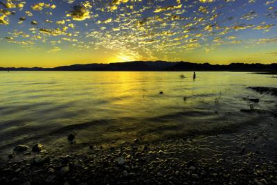 Dawn and Swimmers at Lake Mead