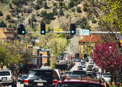Traffic in Glenwood Springs, Colorado
