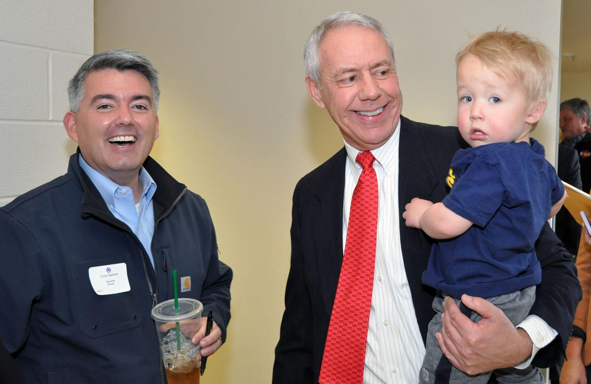 "Sen. Cory Gardner, Rep. Ken Buck and ""Bear"""