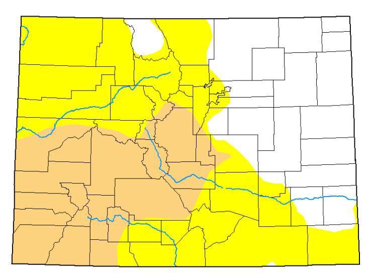Colorado drought map September 2019