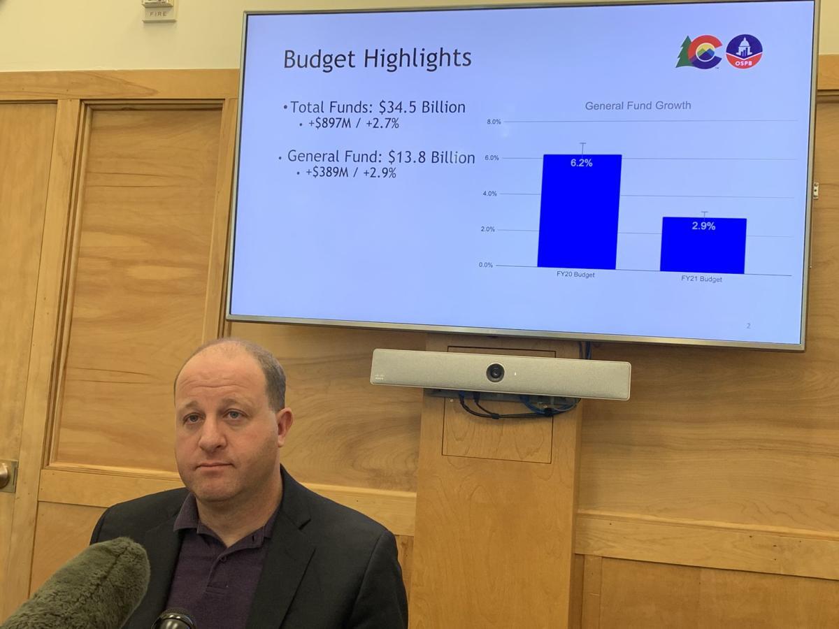 Gov. Jared Polis presents 2020-21 budget proposal