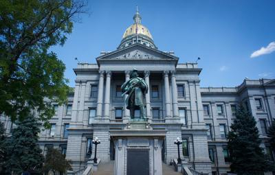 Front of the Colorado capital building