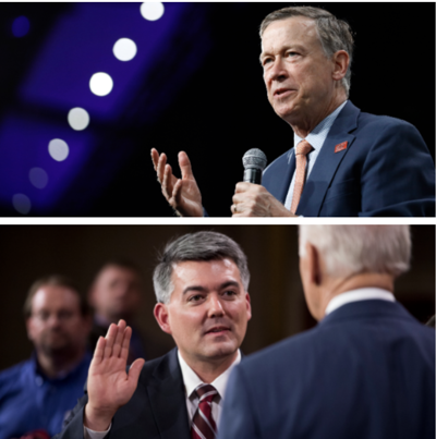 John Hickenlooper and Cory Gardner