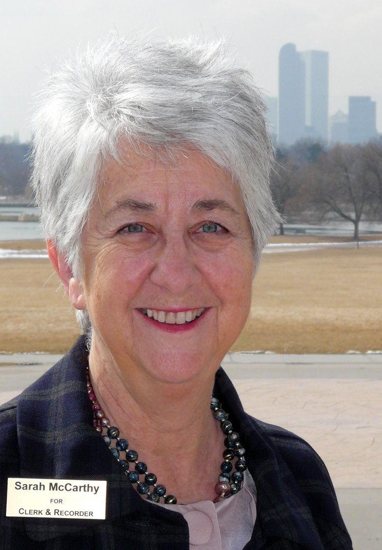 Sarah McCarthy clerk recorder candidate