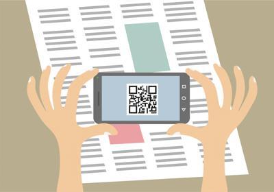 Mobile phone QR code scanning