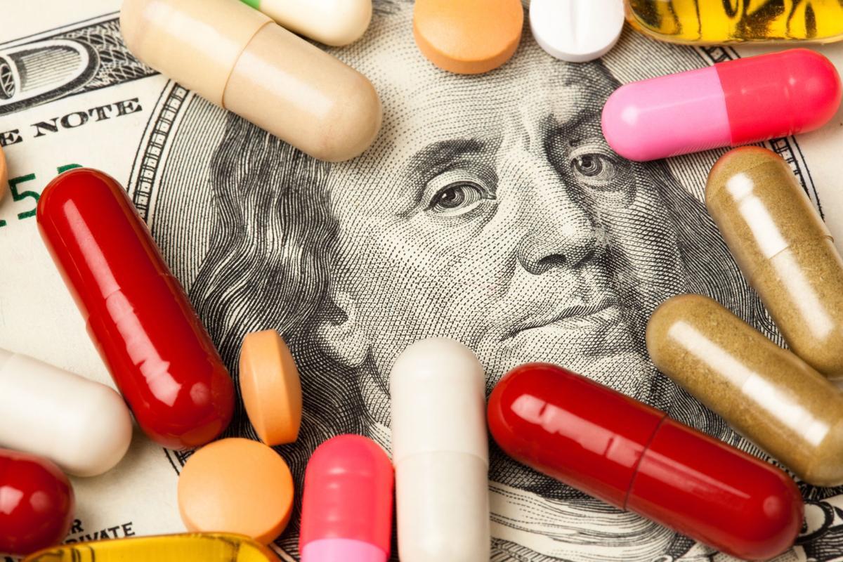 Healthcare cost pills money prescription drugs