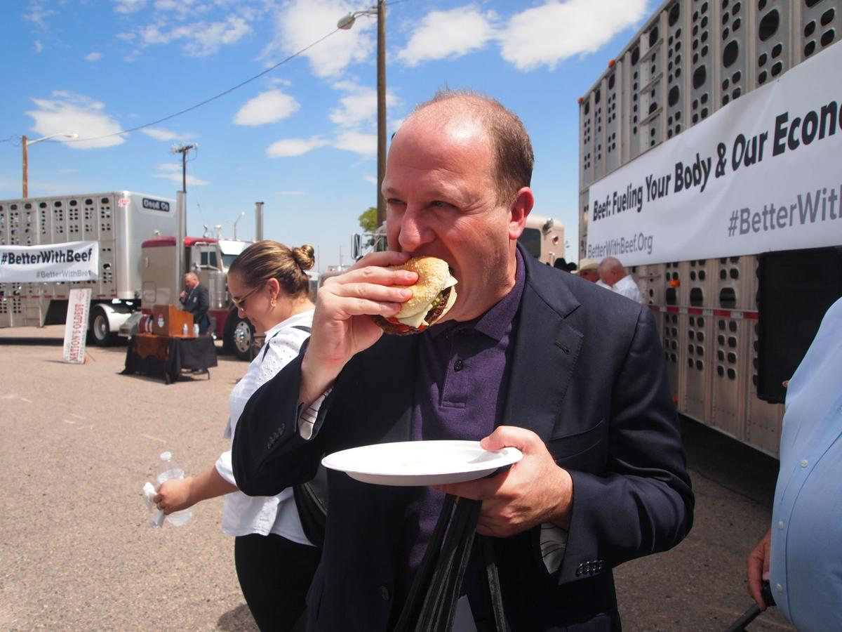 Gov. Polis with beef